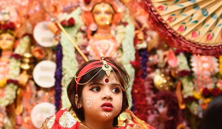 Fatima from Agra worshipped as Kumari on Mahaashtami