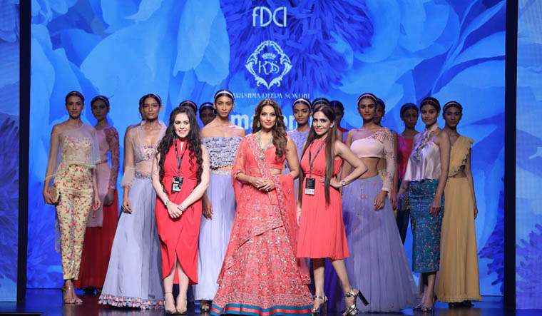 Amazon India Fashion Week: Flirty colours come alive with traditional twist
