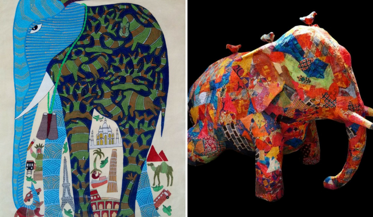elephant-collage