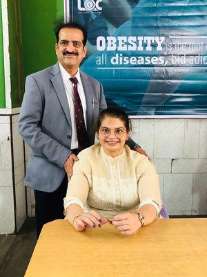 Dr Shashank Shah with Amita Rajani