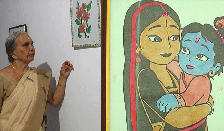 This 77-yr-old artist turns waste fabrics and even rice flour into art