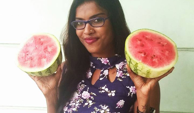 Kerala women launch bare-breast protest after professor's watermelon remarks