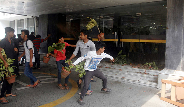 Mob justice: People vandalised the CMRI Hospital in Kolkata following allegations of negligence.