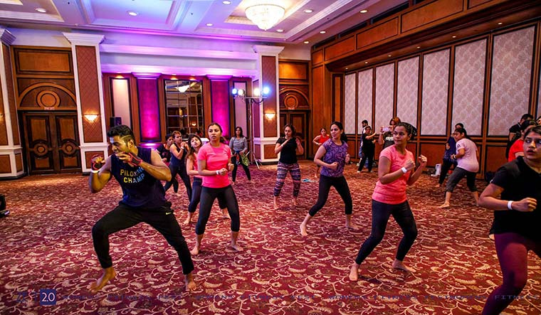 A combination of Pilates and boxing, and Pound fit, where drumsticks are used as props, in India.