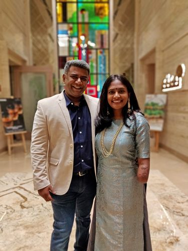 Through thick and thin: Shalini with her husband Prashant Chowdappa.