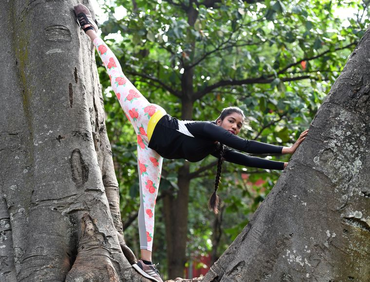 Stretch point: Sunaina Raju, a gymnast, swears by core drills. Her favourite exercises are stomach vacuum and dragon flag   Bhanu Prakash Chandra