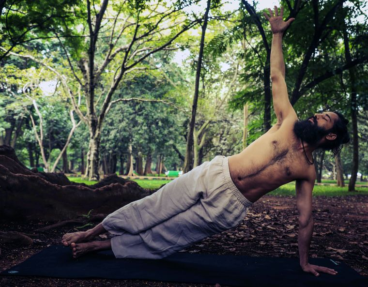 Balanced act: Grand Master Akshar, founder of Akshar Yoga, says if the core is well-devoloped, it gives the individual added stability and controlled flexibility.
