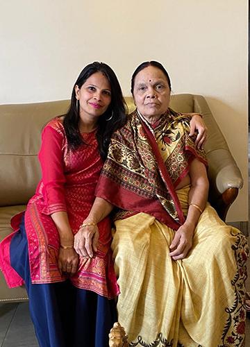 Family's comfort: Kanaklata with her daughter Monika.