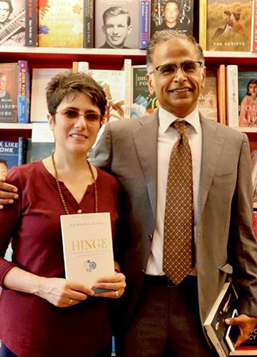 Vandana Kohli with her husband Rajat Sethi