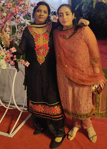 Charu Mehra (left) with her sister-in-law