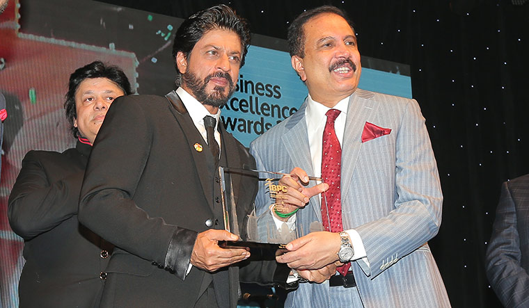 With actor Shah Rukh Khan.