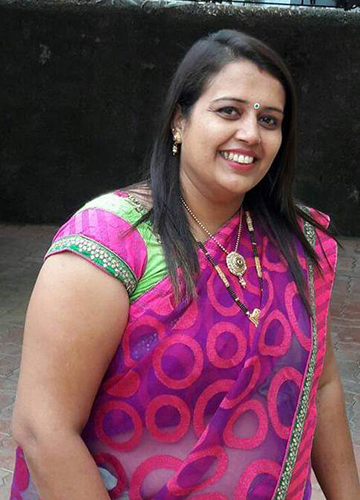 Vrutti Naik, who put on weight after her stroke, felt angry at not being able to control her laughter.