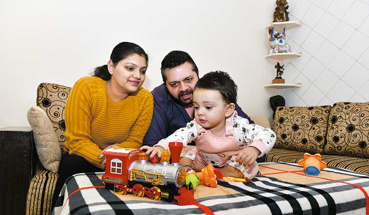 Healing at home: Meera and Vikram Goswami with their daughter Vinisha | Sanjay Ahlawat