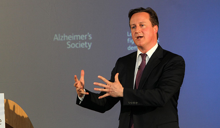 For a cause: David Cameron, then the prime minister of the UK, makes a speech to the Alzheimer's Society  on March 26, 2012 in London | Getty Images