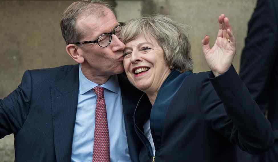 Theresa May and husband Philip May