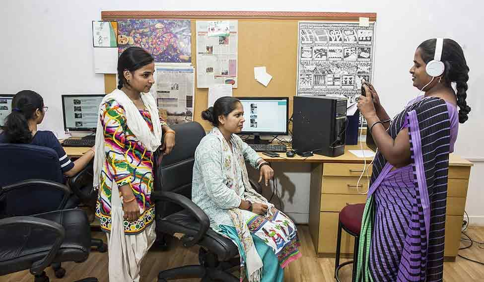 Women at work: The Khabar Lahariya team