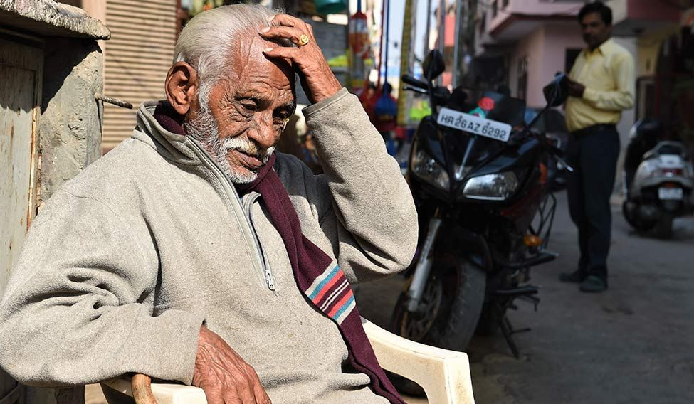 Clueless: 78-year-old retired soldier Nand Lal became the face of demonetisation troubles when a picture of him crying in front of an ATM became viral