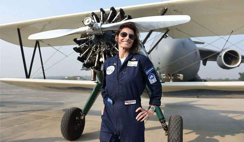 Woman on wings