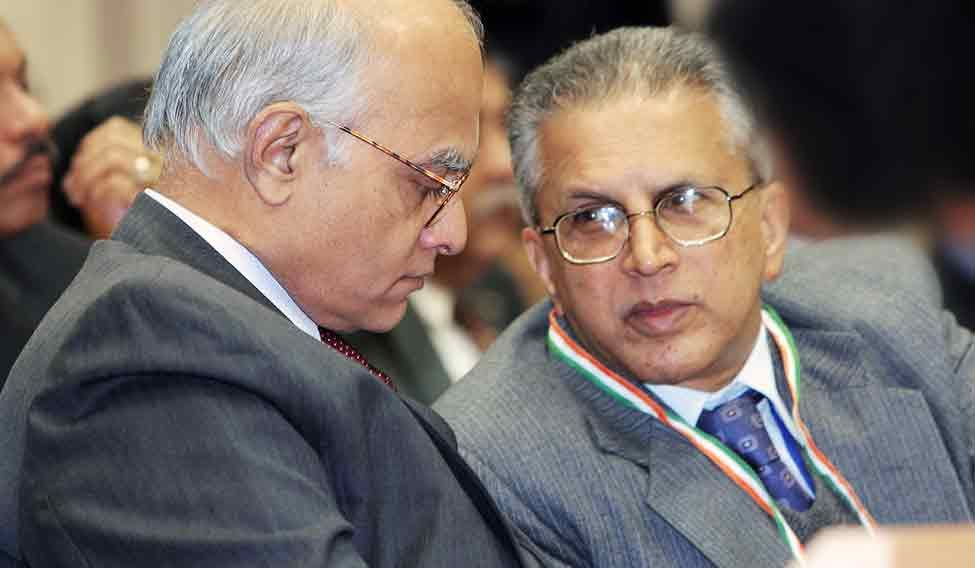 Shivshankar Menon (left) and G.K. Pillai played crucial roles in the Manmohan Singh administration
