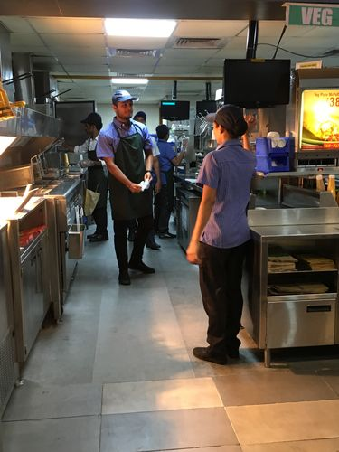 Facing the heat: Hitarth during his stint at McDonald's in Hyderabad.