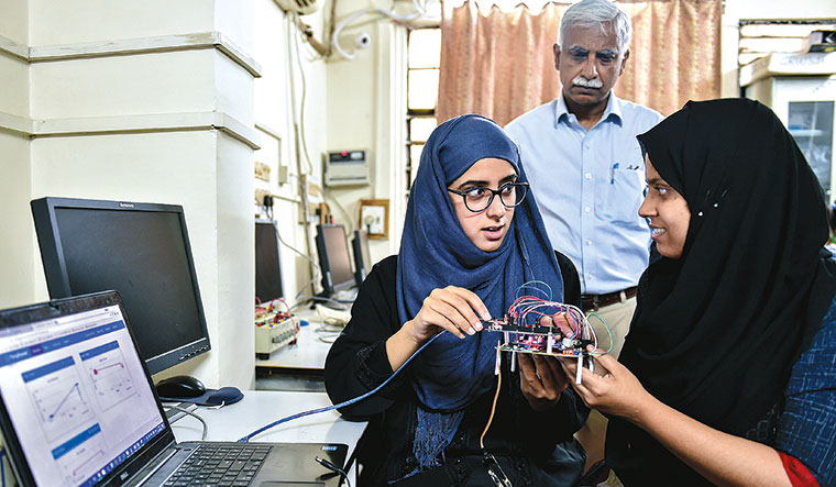 Power push: Students at the electrical engineering department of Aligarh Muslim University | Aayush Goel