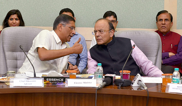 Wise words: Subramanian with Union minister Arun Jaitley | PTI