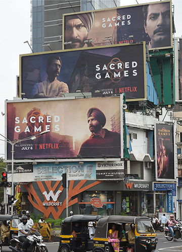 The big push: Billboards in Mumbai announcing the debut of the Netflix series Sacred Games | AFP