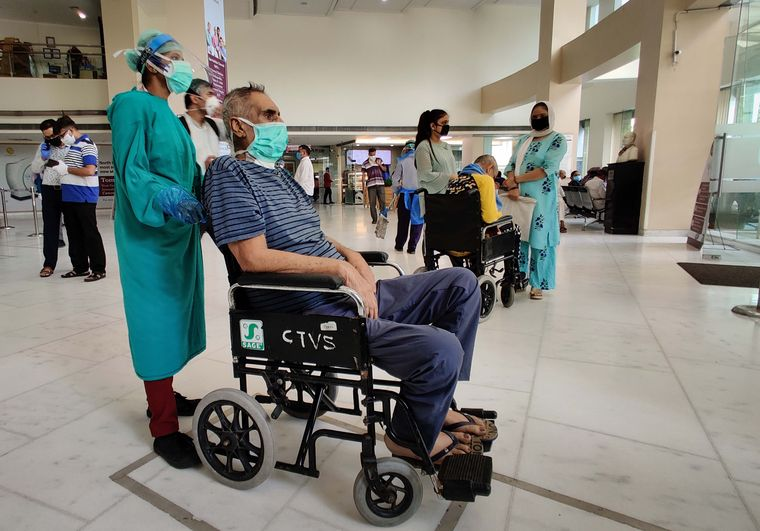 capital care A patient being assisted by a staff at BLK Hospital in New Delhi | GETTY IMAGES