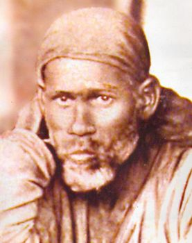 Photo Medium Size Shirdi Baba Portrait B//W