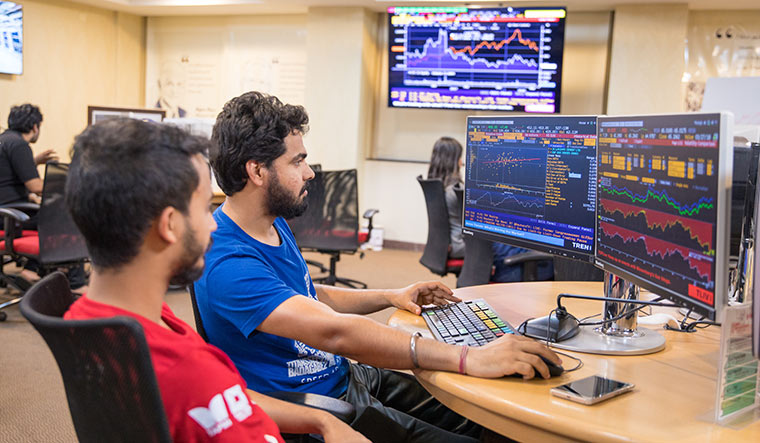 Market watch: The finance lab at T.A. Pai Management Institute, Manipal | Courtesy: TAPMI