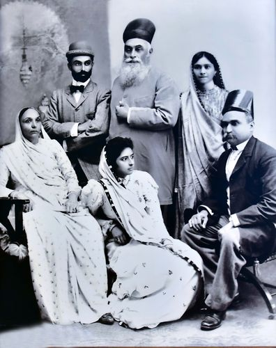The first family: (Standing from left) Jamsetji Tata's younger son Ratan, Jamsetji and Ratan's wife; (sitting from left) Jamsetji's wife Hirabai, Dorabji's wife Meherbai and Dorabji.