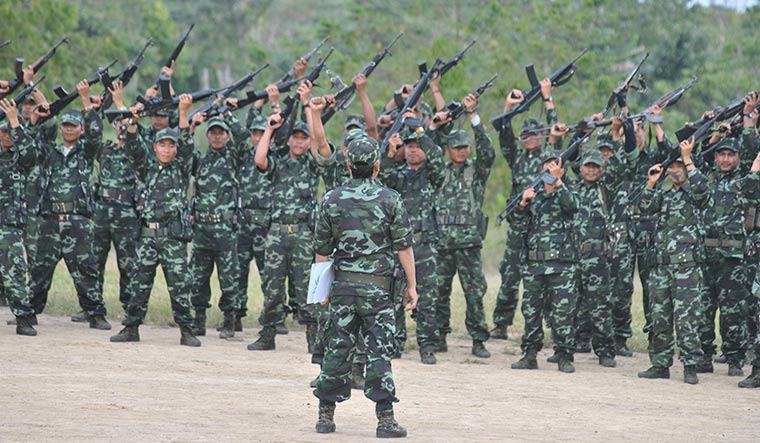 NSCN(K) cadres during a training session | Rajeev Bhattacharyya