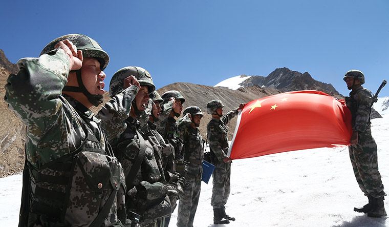 Top guard: Chinese soldiers on patrol in Ngari Prefecture, located in the western part of the Tibet Autonomous Region | Getty Images