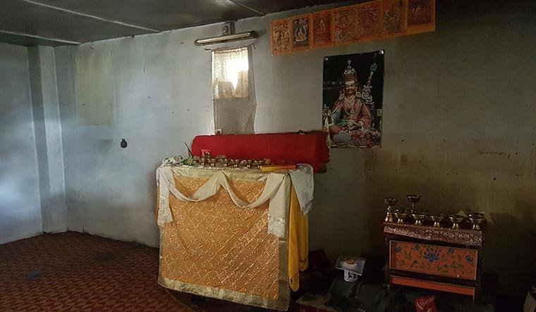 Metamorphosis: The gurdwara interiors show the picture of Guru Nanak replaced by that of Guru Padmasambhava | Rabi Banerjee