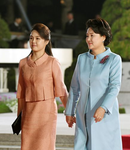 Making it meaningful: First ladies Ri Sol-ju (North Korea) and Kim Jung-sook at Panmunjeom | Reuters