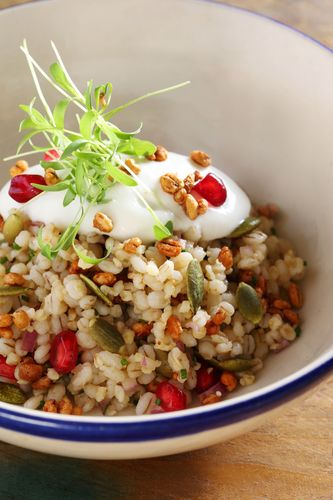 Barley and jowar salad.