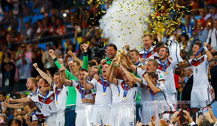 Champion stuff: German players lift the 2014 World Cup after defeating Argentina in Rio de Janeiro | Reuters