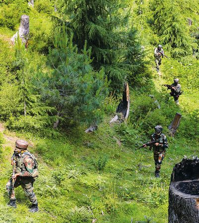 Call of duty: Army personnel during an encounter with militants in Keran sector in Kashmir | PTI