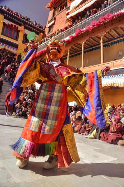 Hidden moves: The cham dance is mostly performed using different masks.
