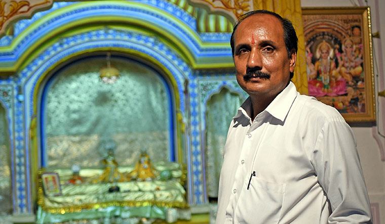 Gajender Sharma was the priest at Samode, a small village near Jaipur, who used to be a Jockey underwear salesman for 15 years | Salil Bera