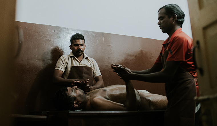 The feel good factor: Two inmates who work as massage therapists at the Ayurvedic Village run by Prisons Department, Telangana | Shanthan Reddy