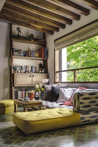 Books nook: Alia and Shaheen Bhatt's apartment in Mumbai | Picture Courtesy: Richa Bahl Design Studio