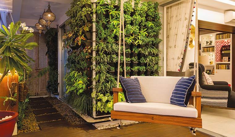 Green and serene: Parineeti Chopra's home designed by Shabnam Gupta | Picture Courtesy: The Orange Lane