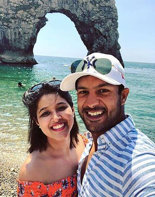 Mayank with wife Aashita