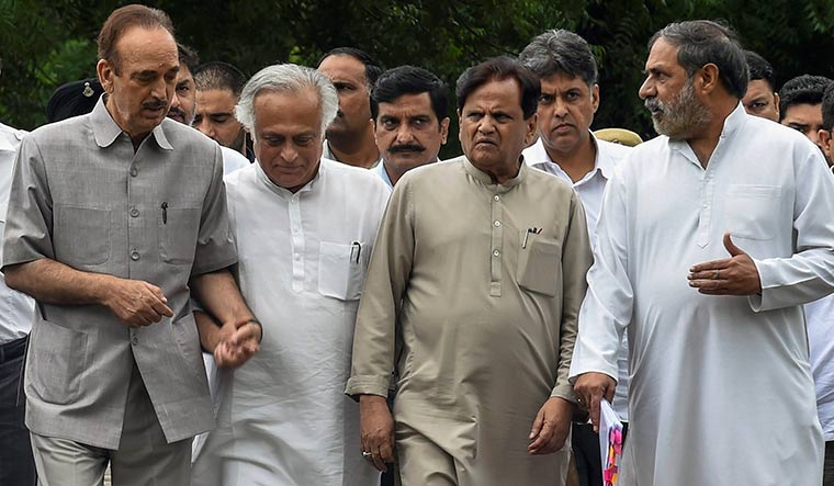 Upper hand: Senior congress leaders ghulam nabi azad, jairam ramesh, ahmed patel, manish tewari and anand sharma. Apparently, since Sonia's return as Congress president, the old guard has had a greater say | PTI