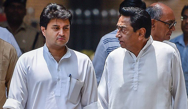 Gen next, gen vexed: After A.K. Antony's intervention, there have been fewer attacks by Jyotiraditya Scindia against Madhya Pradesh Chief Minister Kamal Nath | PTI