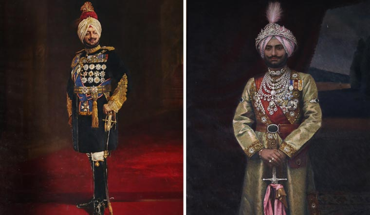 Maharaja Bhupinder Singh (left) and Maharaja Yadavindra singh served in the Army