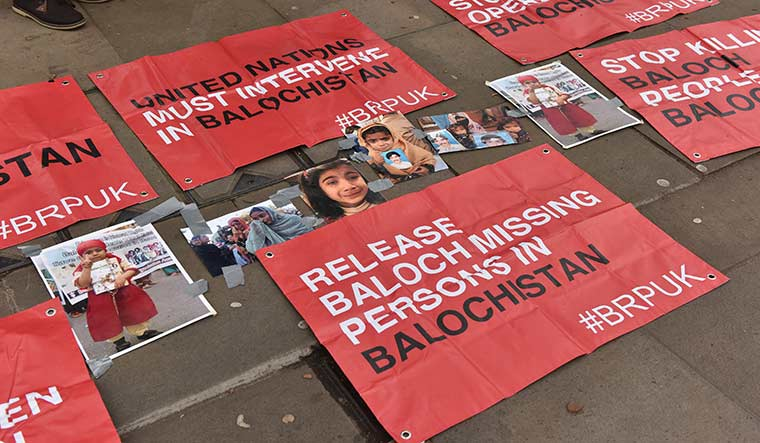 Call to action: A campaign in London, in early 2019, urging the US to intervene in the Balochistan issue | Getty Images