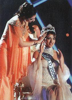 Beauty capital: Priyanka Chopra being crowned miss world 2000.
