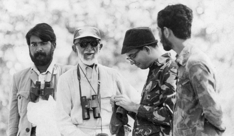 Gadgil with ornithologist Salim Ali in Bandipur National Park in Karnataka in 1977 | Madhav Gadgil Collections